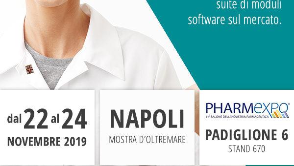 Siamo a Napoli dal 22 al 24 Novembre per Pharmexpo